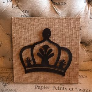 Crown with Wicker Wall Art
